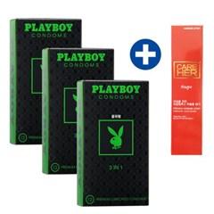 [플레이보이] 3IN1 굴곡형 콘돔 12P 3set 36P구성