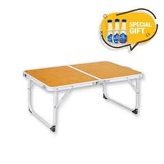 캠핑 초경량 접이식 우든 유퀴즈테이블 탄산수 3P세트