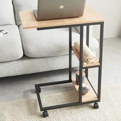 잭팟 바퀴달린 이동식 간이 쇼파 테이블 미니 침대용 책상 침대 위