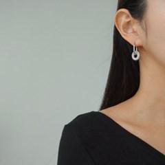 볼드 드롭 링 골드 실버 E1307 패션 귀걸이