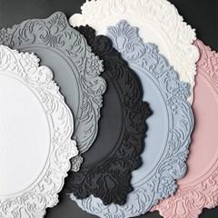 아멜리아 플레이트 실리콘 테이블매트 오벌 (6colors)