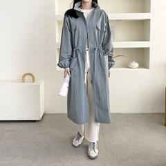 여자 가을 액션 롱롱 색감좋은 나일론100% 야상자켓