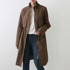 여자 가을 패션 롱 데일리 30대 노카라 사파리 야상자켓