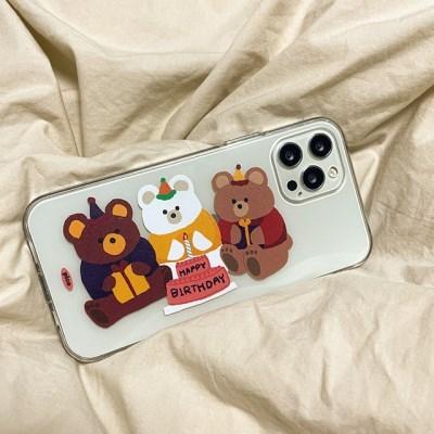 생일축하해 파티 곰돌이 젤리케이스 (아이폰)