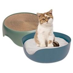 올랑올랑 고양이 스크래쳐 대형 스크레쳐 방석 스크래처