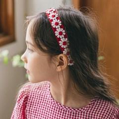 네추럴꽃헤어밴드세트 (머리띠+헤어핀) 유아헤어밴드