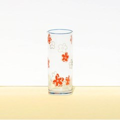 두들링_데이지 꽃 유리잔 컵