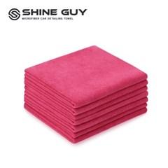 샤인가이 다용도 세차 타월 9P 30x35 핑크