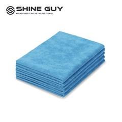 샤인가이 다용도 세차 타월 5P 40x60 블루
