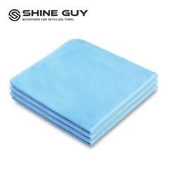 샤인가이 유리전용 세차 타월 3P 블루 프로페셔널