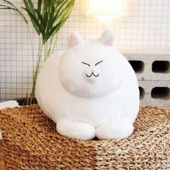 식빵뚱냥 고양이 인형 - 하양