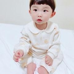 [메르베] 해쉬브라운 신생아 유아 내복/내의/아기실내복_겨울용