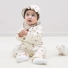 [메르베] 버블플라워 신생아 유아 내복/내의/아기실내복_겨울용