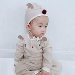 [메르베] 루돌프 신생아 유아 내복/내의/아기실내복_겨울용