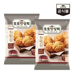생생빵상회 밀크비스킷(8입)440gx2개