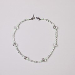 crystal_beads_neck 백수정 원석목걸이 (2color)