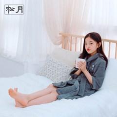 송월 스누피 유아용 후드 샤워가운 세트 1매