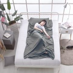 여행용 캠핑 침낭라이너(115x210cm) (그레이) 침낭내피 휴대용