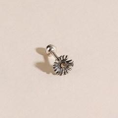 실버925 미니 데일리 유화 꽃 빈티지 엔틱 은 피어싱 귀걸이