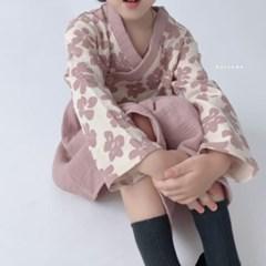 추석 한가위 여아 아동 꽃 생활 한복 원피스 레비