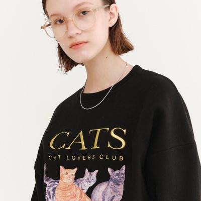 [10/12예약]CATS SWEATSHIRT BLACK