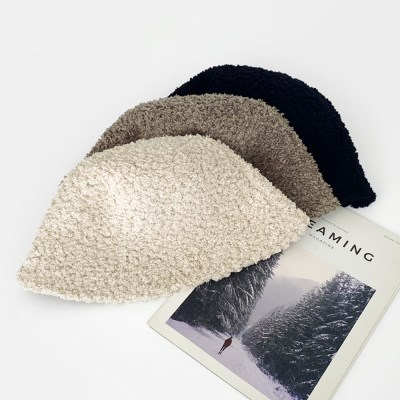 겨울 포그니 모던 양털 벙거지 버킷햇