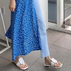 여성 여름 쪼리 슬리퍼 플립플랍 스퀘어 버클