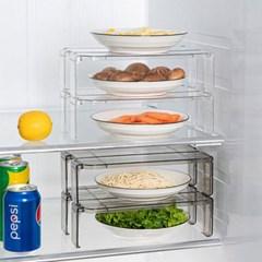 주방 냉장고 정리 씽크대 칸막이 용기 수납 밀폐 선반