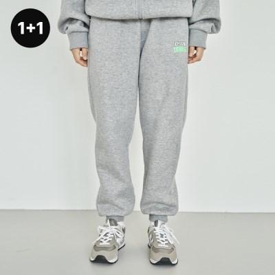 [1+1] UBNA 디자인 로고 스웨트팬츠(기모안감) 3 Colors