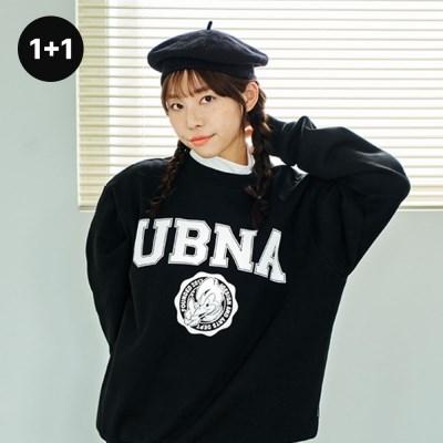 [1+1] UBNA 엠블럼 로고 스웨트셔츠(기모안감) 3 Colors