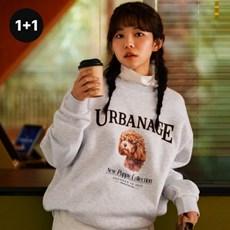 [1+1] 뉴 퍼피 컬렉션 스웨트셔츠(기모안감) 3 Colors