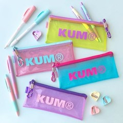 쿰(KUM) 클리어 투명 슬림 파우치