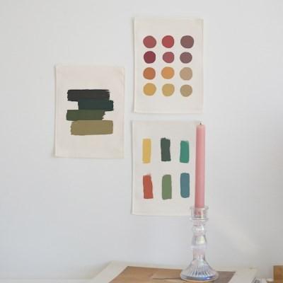 미니 포스터 / 패브릭 포스터_palette (4종세트)