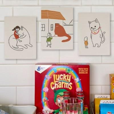 미니 포스터 / 패브릭 포스터_giant cat/거대고양이 (4종세트)