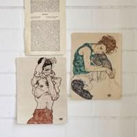 미니 포스터 / 패브릭 포스터_Egon Schiele/에곤쉴레 A (4종세트)