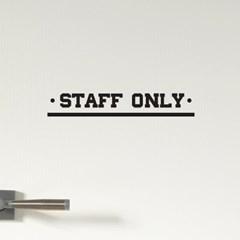 STAFF ONLY  언더바 올드st 직원전용 스테프온리 안내 가게스티커