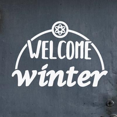 welcome winter 겨울 레터링 인테리어 스티커