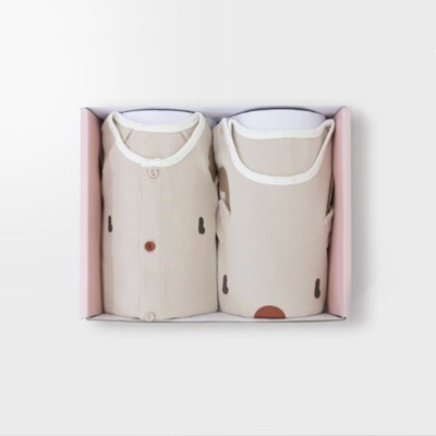 [메르베] 루돌프 아기 돌선물세트(내의+수면조끼)_겨울용