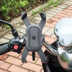 원터치 자전거 스마트폰 거치대(블랙) 논슬립 핸드폰거치대
