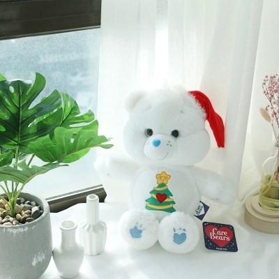 화이트 곰 케어베어 인형 중형 25cm [크리스마스 곰돌이 애착 인형]