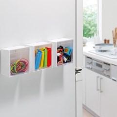 냉장고 파티션 보드 마그넷 수납정리함 스윙케이스 3P