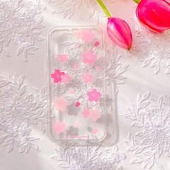 작고 반짝이는 벚꽃 폰 케이스