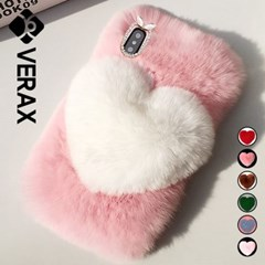 P245-3 아이폰7 핑크 퍼 실리콘 케이스