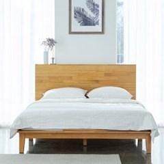 까르엠가구 고무나무 원목 글로리 평상형 침대 프레임 SS