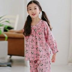 여자아이실내복 디즈니잠옷 마일드 미키마우스 긴팔 순면 파자마