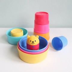 컵온컵스 곰돌이 아기 컵쌓기 블록 놀이 장난감