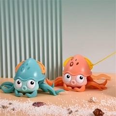 유아 아동 목욕 물놀이 장난감 움직이는 문어 완구 J