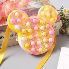 미키마우스 파스텔 사탕컬러 푸쉬팝 푸시팝 팝잇 가방 J