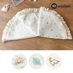 에시앙 모데즈 누빔 자수 아기 프릴 원형러그용 커버 (택1)