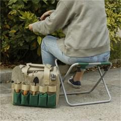 다용도 접이식 휴대용 툴백 체어 원예 캠핑 작업 의자 J